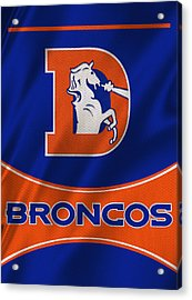 Denver Broncos Uniform Acrylic Print