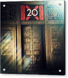 20 Exchange Place Art Deco Acrylic Print by Natasha Marco