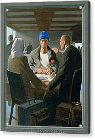 20. Jesus Appears At Emmaus / From The Passion Of Christ - A Gay Vision Acrylic Print by Douglas Blanchard