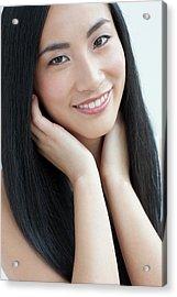 Woman Smiling Acrylic Print