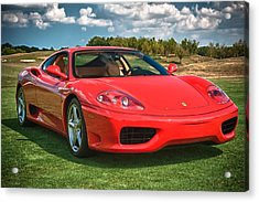 2001 Ferrari 360 Modena Acrylic Print by Sebastian Musial