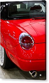 2002 Red Ford Thunderbird-rear Left Acrylic Print by Eti Reid