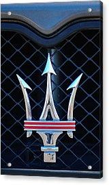 2005 Maserati Gt Coupe Corsa Emblem Acrylic Print