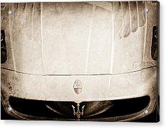 2005 Maserati Mc12 Hood Ornament Acrylic Print by Jill Reger