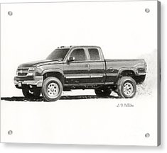2006 Chevy Silverado 2500 Hd Acrylic Print by Sarah Batalka