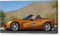 2007 Chevrolet Corvette Indy Pace Car Acrylic Print