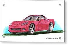 2007 Corvette C 6 Acrylic Print by Jack Pumphrey