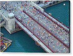 2008 Chicago Marathon Acrylic Print by Kay Gilley
