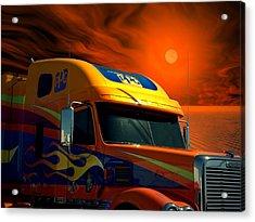 2008 Freightliner Coronado Ppg Semi Truck Acrylic Print