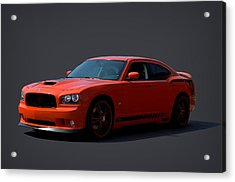 2009 Dodge Srt8 Super Bee Acrylic Print by Tim McCullough