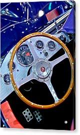 2010 Allard J2x Mk II Commemorative Edition Steering Wheel Acrylic Print by Jill Reger