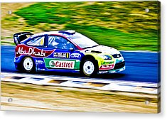 2010 Ford Focus Wrc Acrylic Print by motography aka Phil Clark