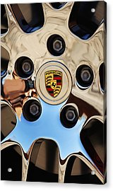 2010 Porsche Panamera Turbo Wheel Acrylic Print