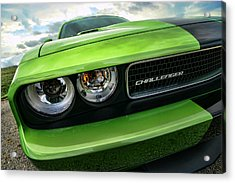 2011 Dodge Challenger Srt8 Green With Envy Acrylic Print by Gordon Dean II