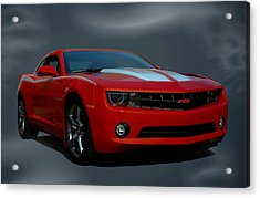 Acrylic Print featuring the photograph 2012 Camaro Rs by Tim McCullough