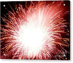 Acrylic Print featuring the digital art 2012 Fireworks by Angelia Hodges Clay