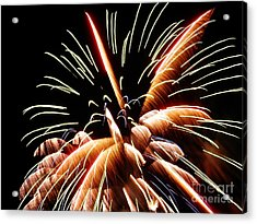 Acrylic Print featuring the digital art 2012 Fireworks By Aclay by Angelia Hodges Clay