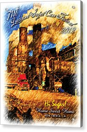2012 Louisiana Sugarcane Festival Poster Acrylic Print by Ronald Olivier
