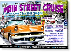 2012 Main Street Cruise Poster Acrylic Print by The Couso Collection