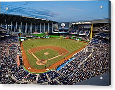 2012 Marlins Park Acrylic Print by Mark Whitt