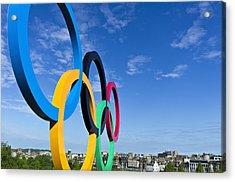 2012 Olympic Rings Over Edinburgh Acrylic Print