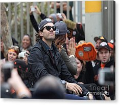 2012 San Francisco Giants World Series Champions Parade - Barry Zito - Img8206 Acrylic Print by Wingsdomain Art and Photography