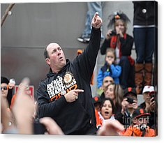 2012 San Francisco Giants World Series Champions Parade - Will The Thrill Clark - Dpp0006 Acrylic Print by Wingsdomain Art and Photography