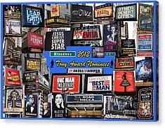 2012 Tony Award Nominees Collage Acrylic Print