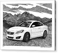 2012 Volvo C 70 Front Acrylic Print by Jack Pumphrey