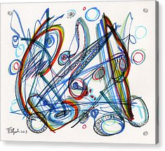 2013 Abstract Drawing #12 Acrylic Print by Lynne Taetzsch