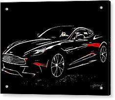 2013 Aston Martin Vanquish Acrylic Print