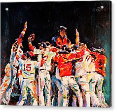 2013 Boston Red Sox World Series Champions Acrylic Print by Derek Russell