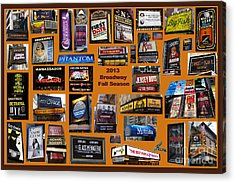 2013 Broadway Fall Collage Acrylic Print by Steven Spak