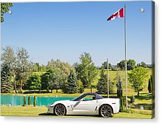2013 Corvette 427 Sixtieth Anniversary Special By Canadian Flag Acrylic Print