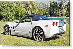 2013 Corvette 427 Sixtieth Anniversary Special Striped Roof Up Acrylic Print