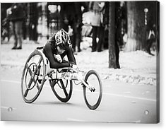 2013 Nyc Marathon Wheelchair Division Acrylic Print by Eduard Moldoveanu