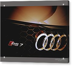 2014 Audi Rs7 Logo Acrylic Print
