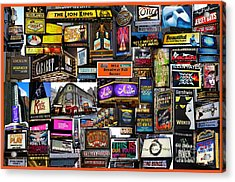 2014 Broadway Fall Season Collage Acrylic Print