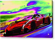 2014 Lamborghini Veneno Roadster Abstract Acrylic Print