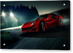 2014 Novitec Rosso Ferrari F12 Berlinetta N Largo Acrylic Print