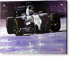 2014 Williams F1 Team Fw 36 Felipe Massa  Acrylic Print by Yuriy Shevchuk