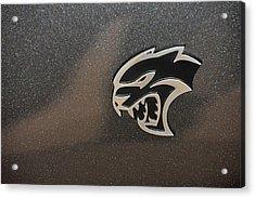 2015 Dodge Challenger Srt Hellcat Emblem Acrylic Print
