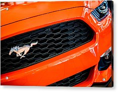2015 Ford Mustang Prototype Grille Emblem -0092c Acrylic Print by Jill Reger