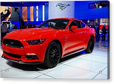 2015 Mustang In Red Acrylic Print