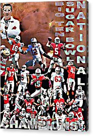 2015 Ohio State National Champions Acrylic Print