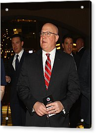 2016 Hockey Hall Of Fame Induction - Red Carpet Acrylic Print by Bruce Bennett
