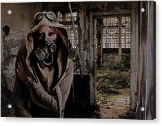 2050 Post Apocalyptic Scene Acrylic Print by Galen Valle