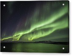 Acrylic Print featuring the photograph Aurora Borealis by Frodi Brinks