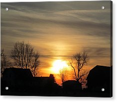 21 Dec 2012 Sunset Two Acrylic Print