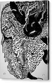 Dinka Dance - South Sudan Acrylic Print